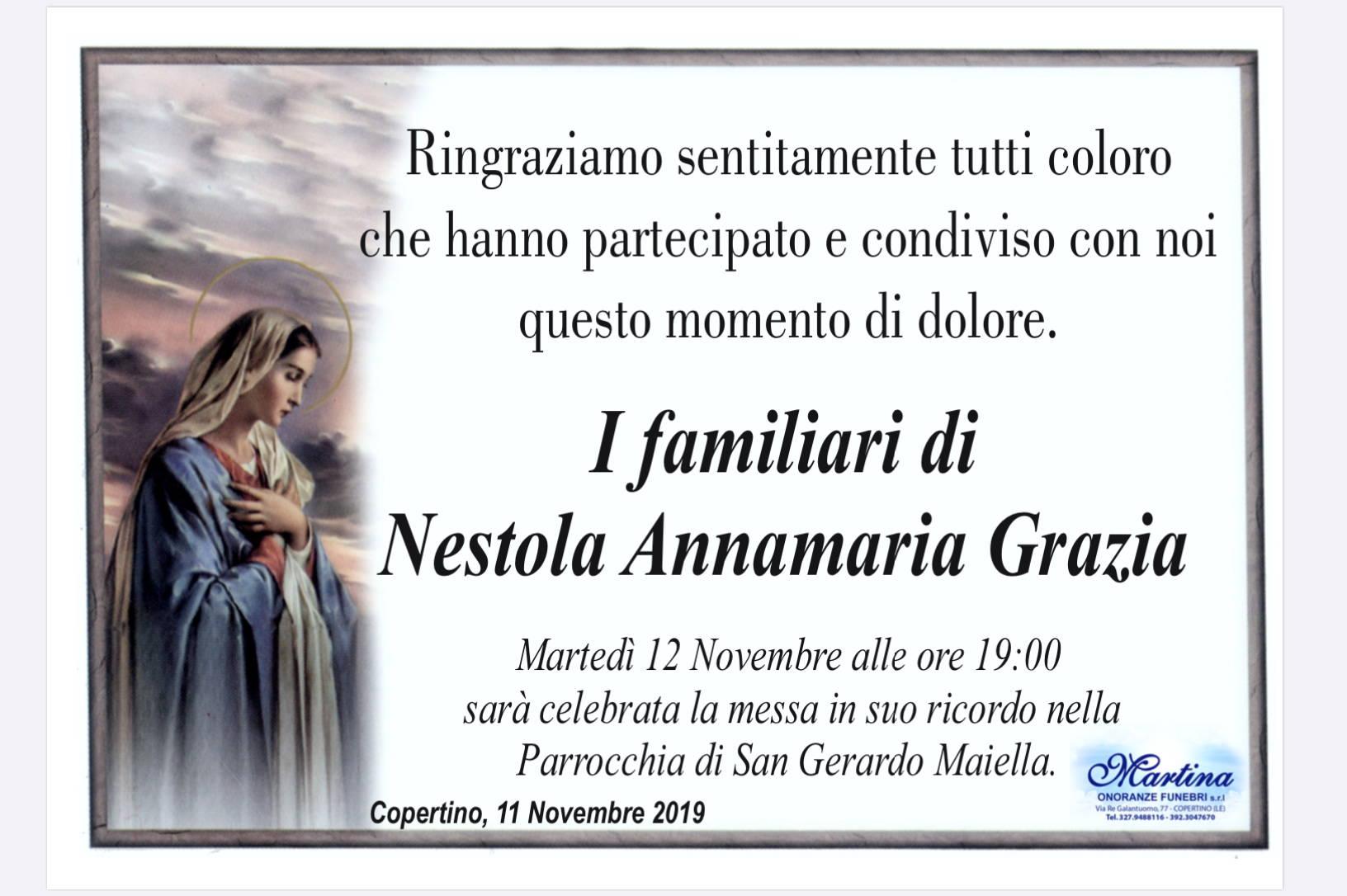 I familiari di Nestola Annamaria Grazia