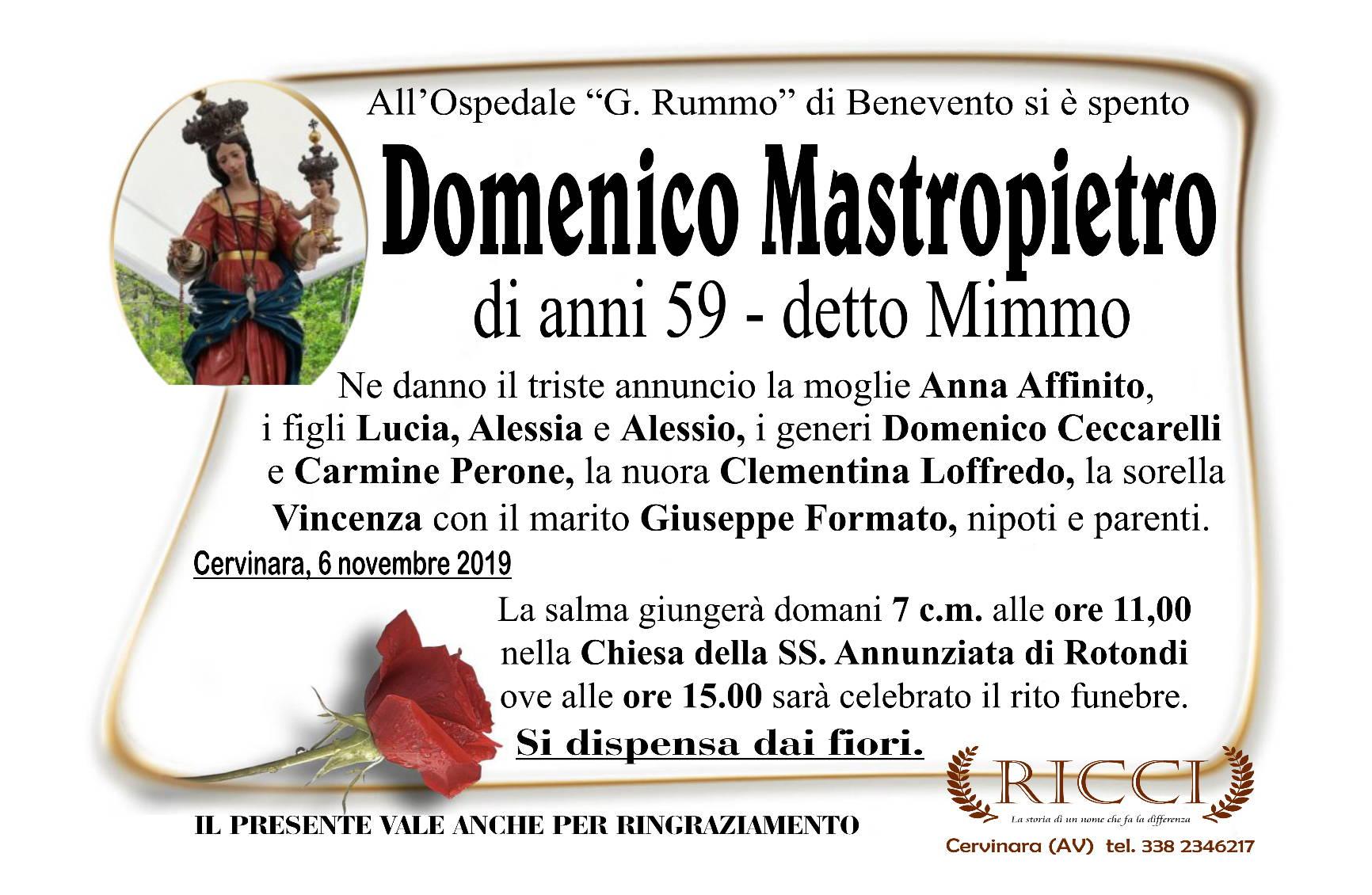 Domenico Mastropietro