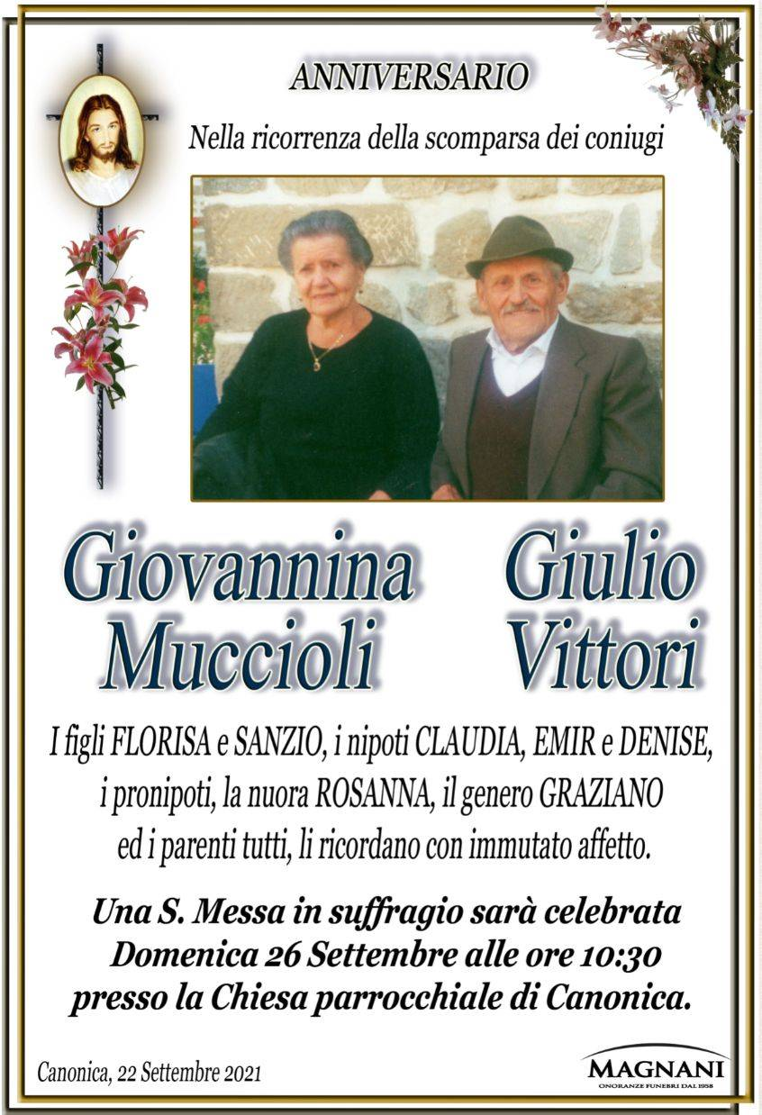 Giulio Vittori e Giovannina Muccioli