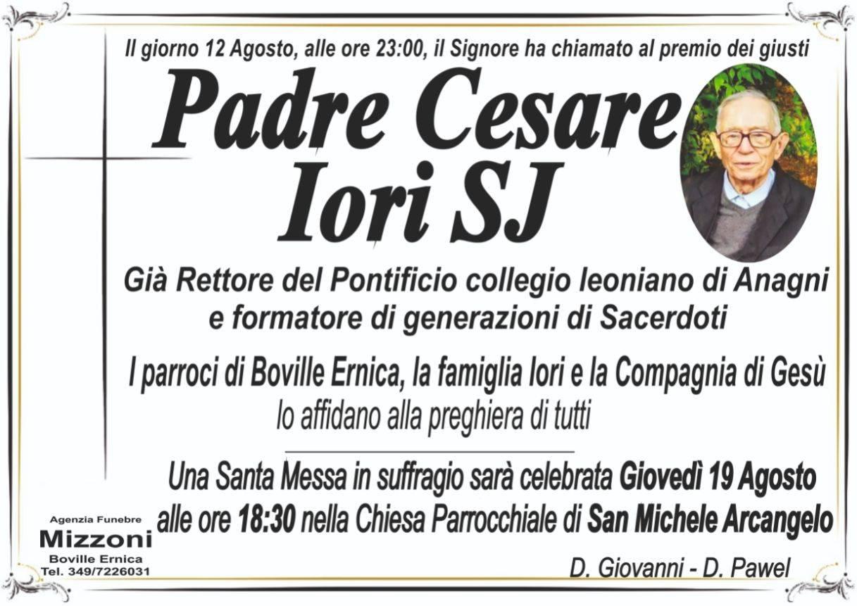 Padre Cesare Iori SJ