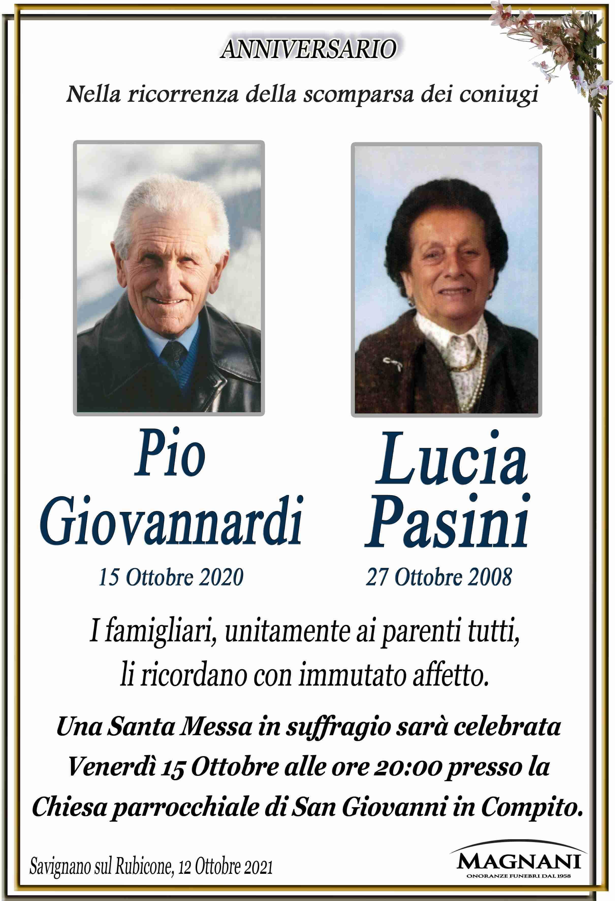 Coniugi Giovannardi Pio e Pasini Lucia