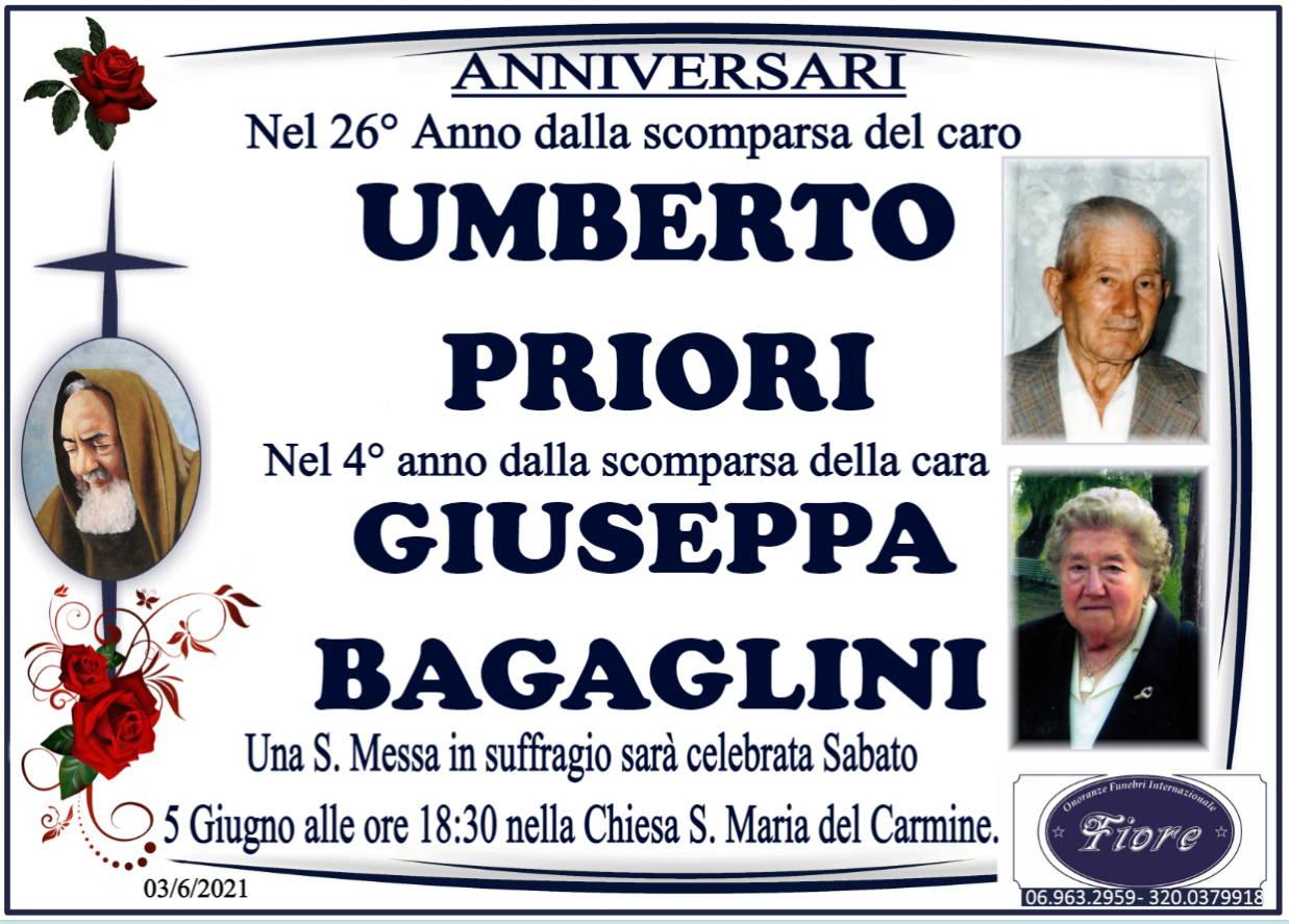 Umberto Priori e Giuseppa Bagaglini