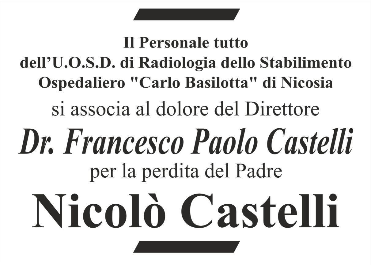 """Il personale dell'U.O.S.D. di Radiologia dello Stabilimento Ospedaliero """"Carlo Basilotta"""" di Nicosia"""