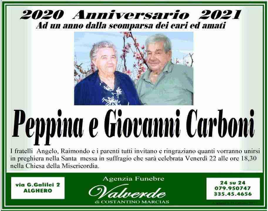 Peppina e Giovanni Carboni