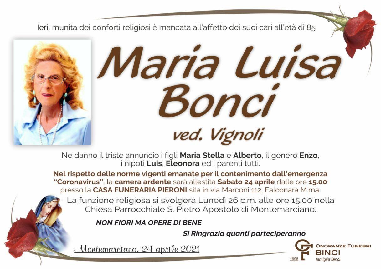 Maria Luisa Bonci