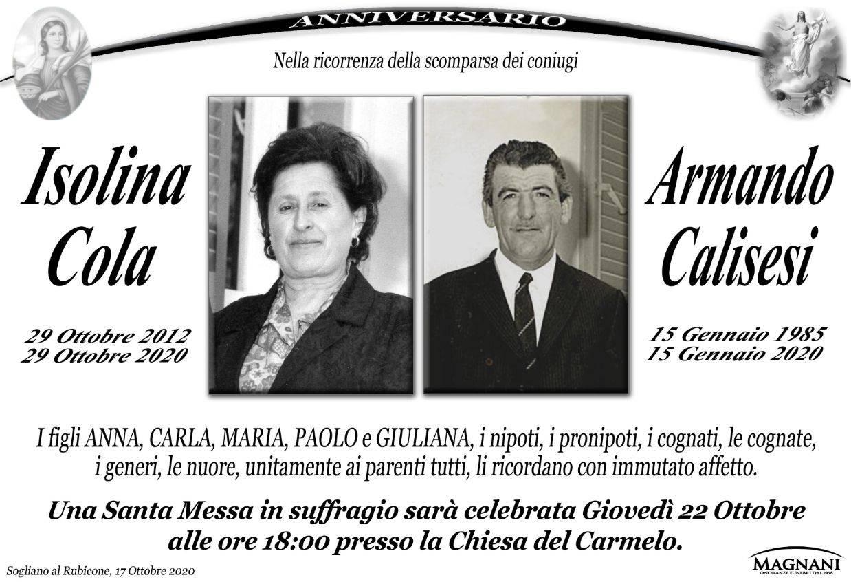 Coniugi Isolina Cola e Armando Calisesi