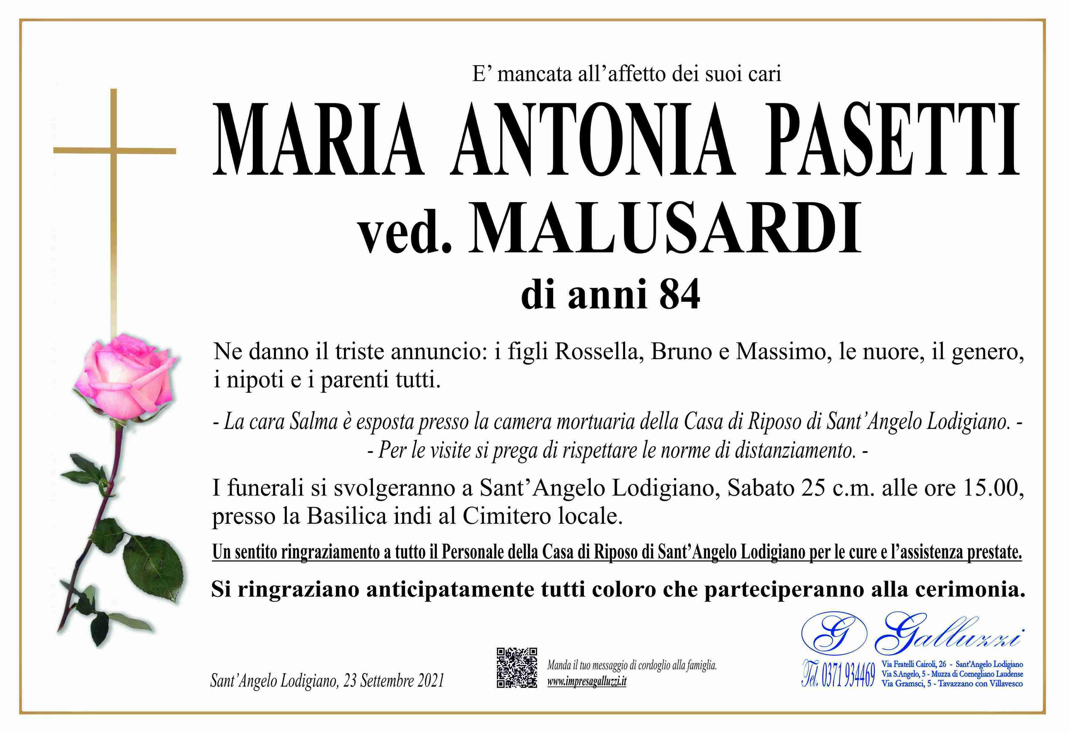 Maria Antonia Pasetti