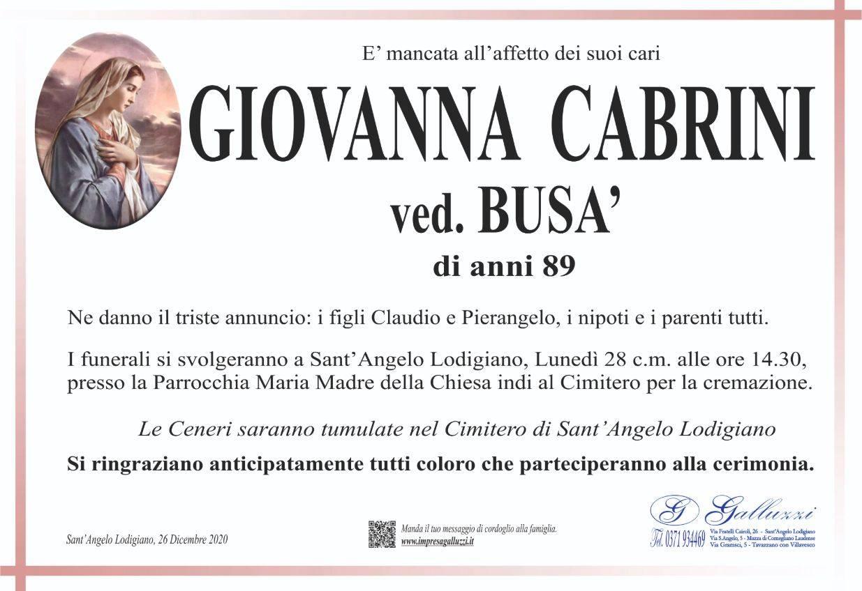 Giovanna Cabrini
