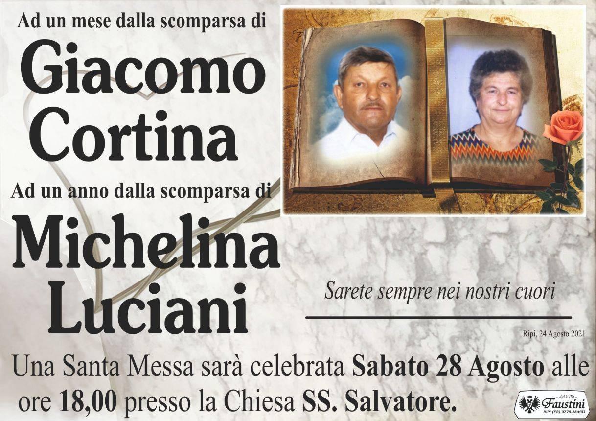 Giacomo Cortina e Michelina Luciani