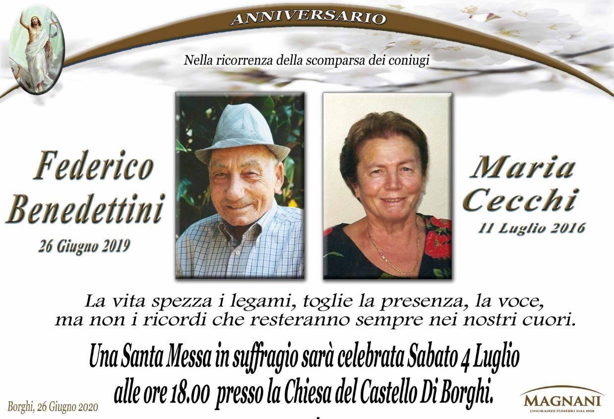 Coniugi Federico Benedettini e Maria Cecchi