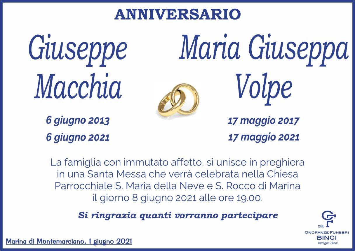 Giuseppe Macchia e Maria Giuseppa Volpe