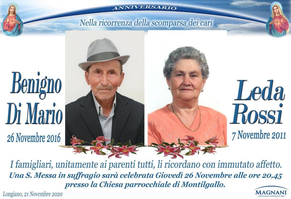 Coniugi Benigno Di Mario e Leda Rossi