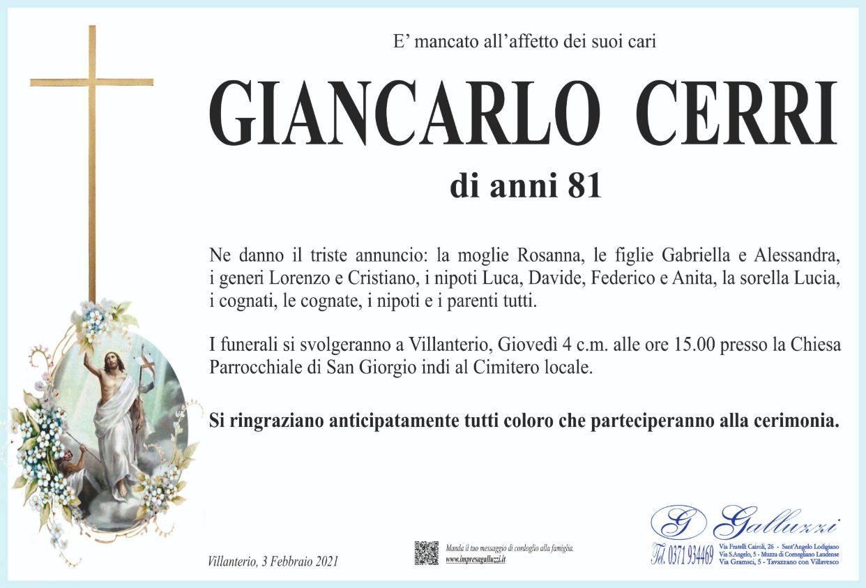 Giancarlo Cerri