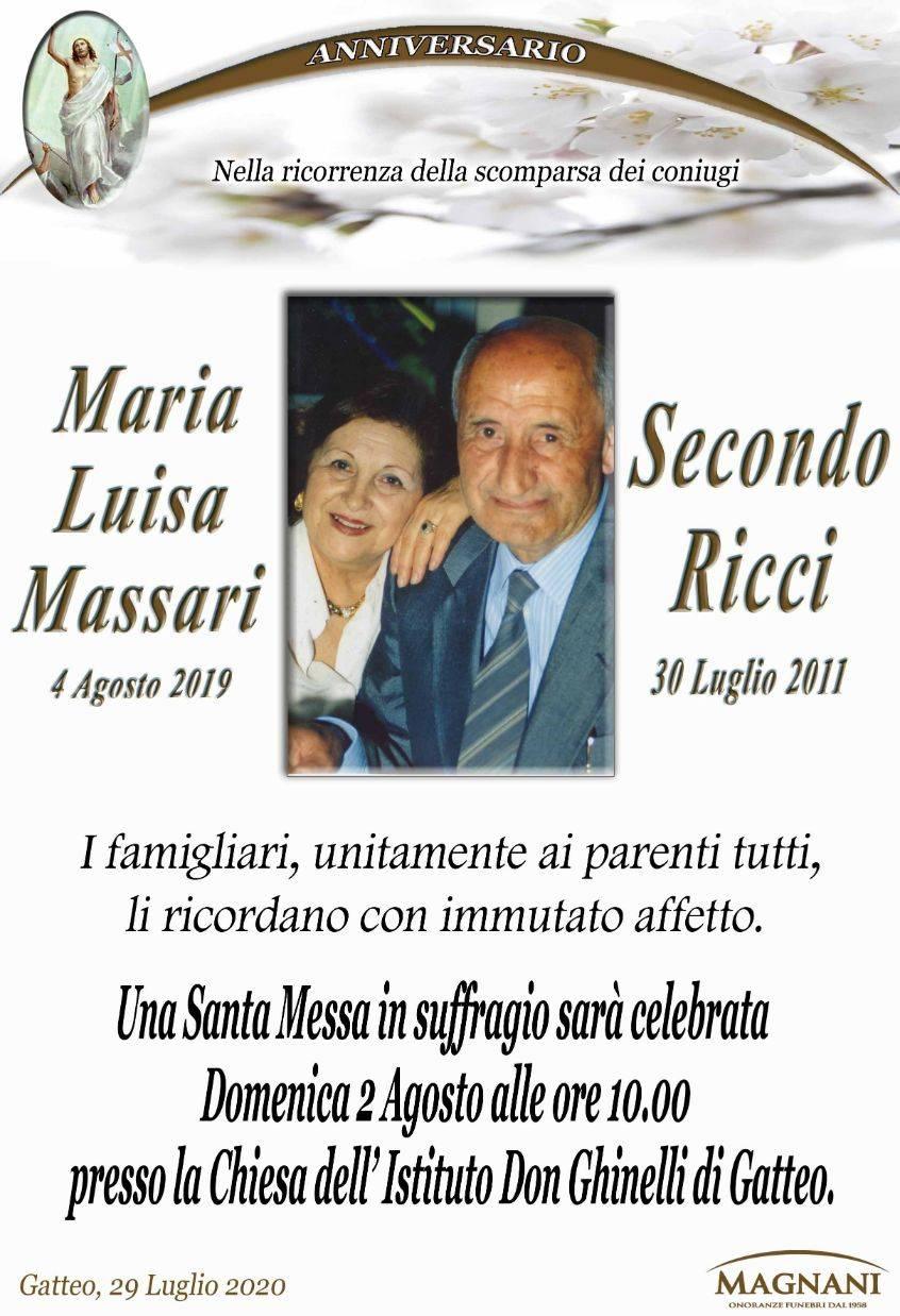 Secondo Ricci e Maria Luisa Massari
