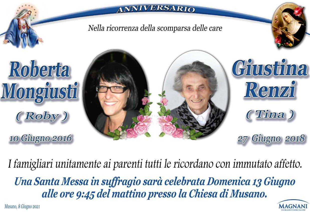 Roberta Mongiusti e Giustina Renzi