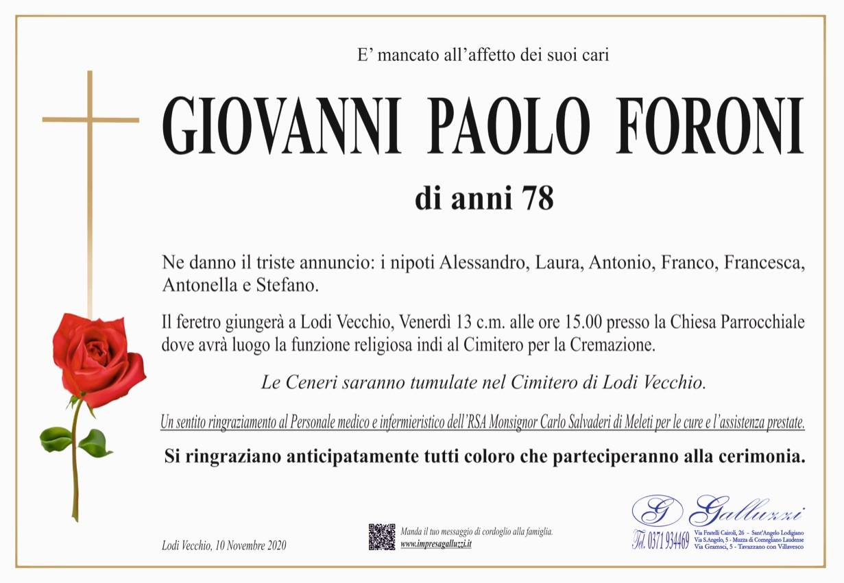 Giovanni Paolo Foroni